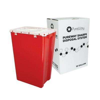 Pureway Sharps Disposal System 18 Gallon 40018 Made In Usa