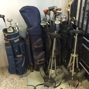 Golf bags and carts