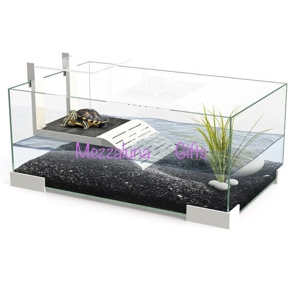 Ciano tartarium 40 60 80 turtle terrapin reptile glass for Tartarughiera in plexiglass