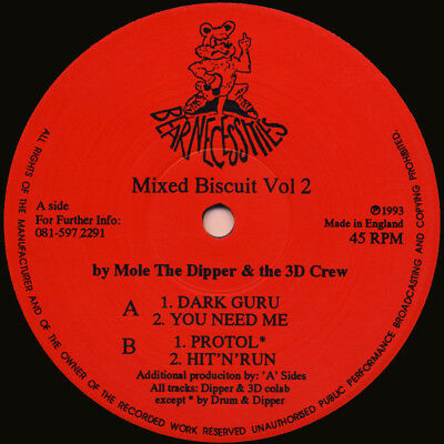 Mole The Dipper & The 3D Crew – Mixed Biscuit Vol 2 *** Oldskool - Hardcore ***