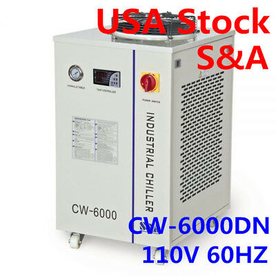 110v 60hz Cw-6000dn Industrial Water Chiller For 100w Solid-state Laser22kw Cnc