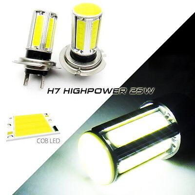 2x H7 High Power COB LED Corner Light 25W Bulb For Mercedes Audi Volkswagen BMW