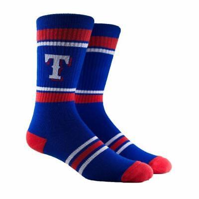 NEW Texas Rangers MLB Parkway PKWY Blue Stripe Crew Socks Men's Women's Youth