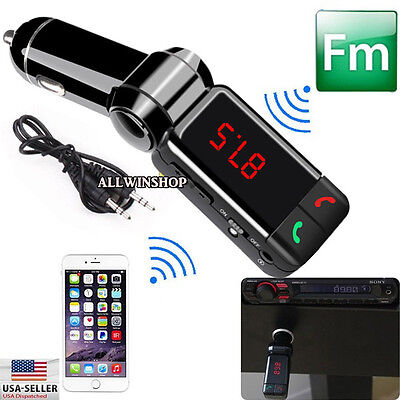 Dual USB Car Kit Charger LCD FM Transmitter Wireless Bluetooth Stereo MP3 Player