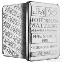 10 oz Silver Bar Johnson Matthey .999+