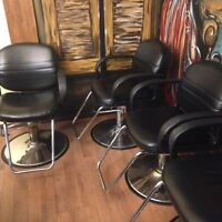 4 hydraulic chairs for sale