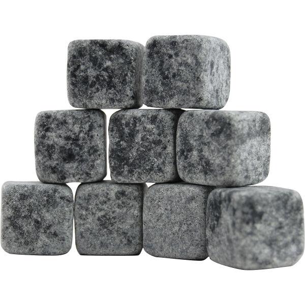 On The Rocks Whiskey Stones – Set of 9 Stone Ice Cubes- Bar Drink Liquor Chiller