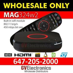 324W2, 322W1 MAG INFOMIR- LATEST VERSION, FASTEST TV BOX