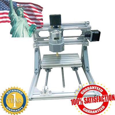 Mini 3-axis Cnc 1610 Router Engraver Diy Carving Machine Pcb Pvc Milling Wood Us