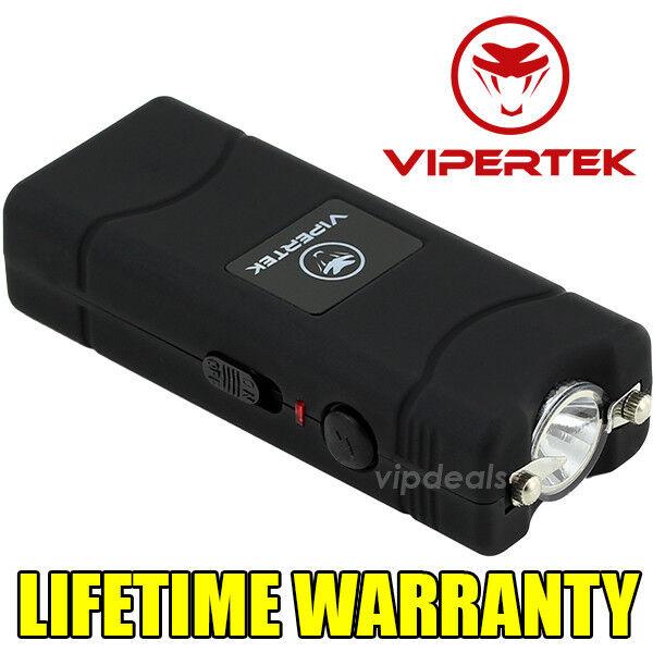 VIPERTEK BLACK VTS-881 55 BV Micro Rechargeable LED Police Stun Gun Taser Case