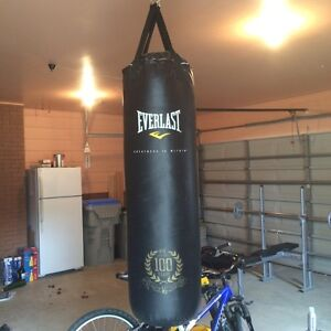 Weight set and punching bag