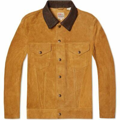 LVC Levi's Vintage Clothing Suede Trucker Jacket Honey M (40)