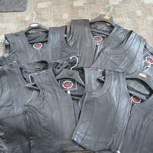 Ladies Leather Motorcycle Vests Brand New $40 Re-Gear Oshawa