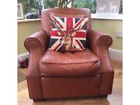 Collins & Hayes designer distressed armchair