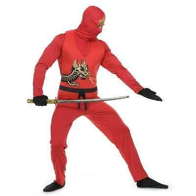 NINJA AVENGER SERIES II RED DRAGON MENS COSTUME XL Halloween