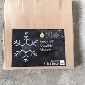 White LED Snowflake Outdoor/ Indoor Light
