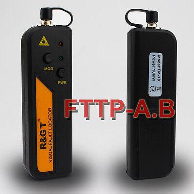 10mw Visual Fault Locator Fiber Optic Laser Cable Tester Test Equipment A Bag