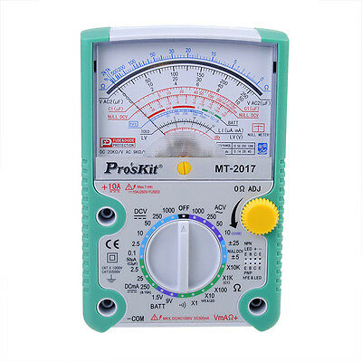 Proskit Mt-2017 Acdc Lcd Protective Function Analog Multimeter New