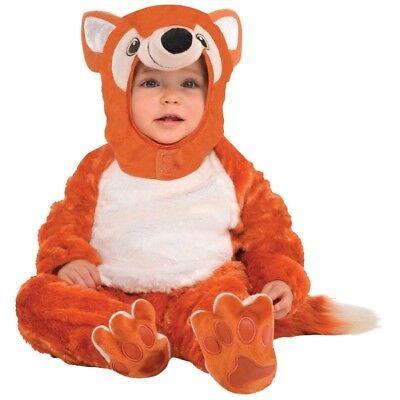 Flauschiges Fuchs Baby Kostüm NEU - Mädchen Karneval Fasching Verkleidung -