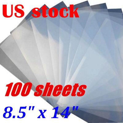 Usa 100 Sheets 8.5 X 14 Waterproof Screen Printing Inkjet Transparency Film
