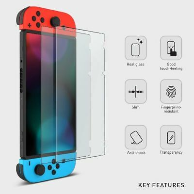 2x HD Clear Tempered Glass Screen Protector Shield for Nintendo Switch