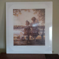 "Trisha Romance – ""Golden Moments"" LE Print and Artist's Sketch"