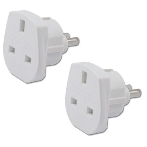 2 x UK TO USA US AMERICA TOURIST TRAVEL PLUG POWER ADAPTOR