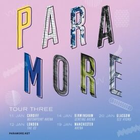 2 x standing Paramore tickets, Friday 12th January, o2 Arena London