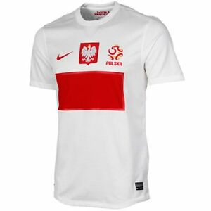 Nike  2012/13 POLAND HOME REPLICA Men's Soccer Jersey White Football S $85
