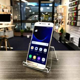AS NEW SAMSUNG S7 32GB GOLD AU MODEL UNLOCKED WARRANTY INVOICE