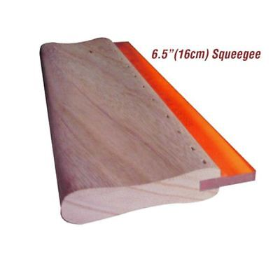 6.5 Silk Screen Printing Squeegee Blade Wood Handle Ink Scraper Scratch Board