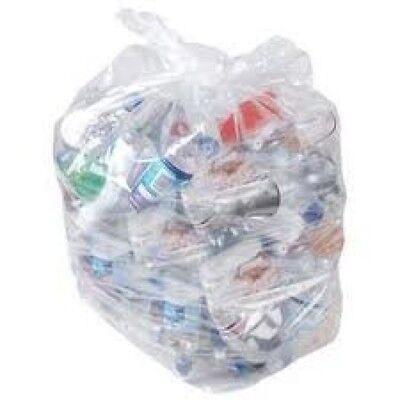 50 x Heavy Duty Clear Refuse Sacks Bin Bags Rubbish Scrap / Waste (18x29x39)