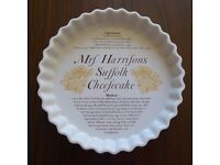 Mrs. Harrisons Suffolk Cheesecake dish