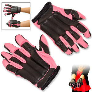 GENUINE SAP STEEL SHOT GLOVES REAL LEATHER PINK NYLON COMFORTABLE  SIZE M