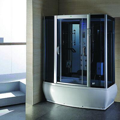 9007-WS Steam Shower Enclosure Sauna Whirlpool Touch Screen Computer Display
