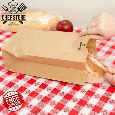 500 Pack 6 Lb Brown Disposable Paper Grocery Bags Standard 6