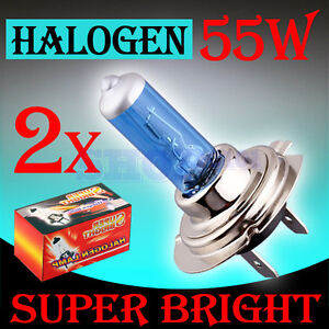 2x H7 Super Bright White Fog Halogen Bulb 55W Car Head Light Lamp 12V
