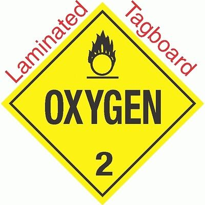 T-319 Spontaneously Combustible Class 4.2 Laminated Tagboard Placard GC LABELS