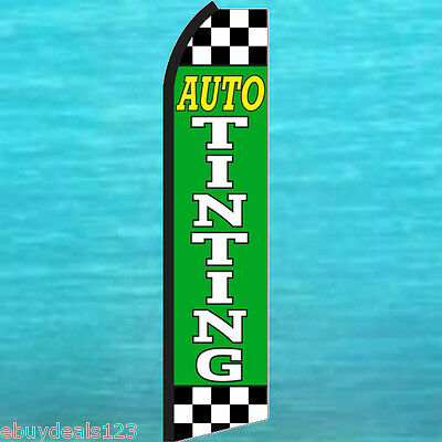 Auto Tinting Swooper Flag Tall Flutter Feather Vertical Advertising Sign Banner