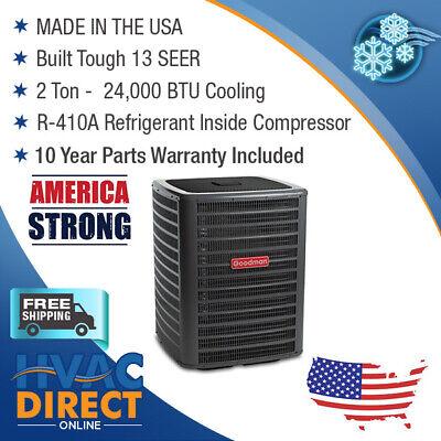 2 Ton 13 SEER Goodman Air Conditioner Condenser - Model GSX1