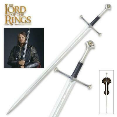 """Lord of the Rings King Elessar Anduril 52"""" Sword with Plaque United Cutlery COA"""