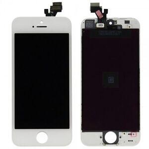 Display-Lcd-Completo-unita-pannello-touch-per-Apple-iPhone-5-5-G-bianco-vetro