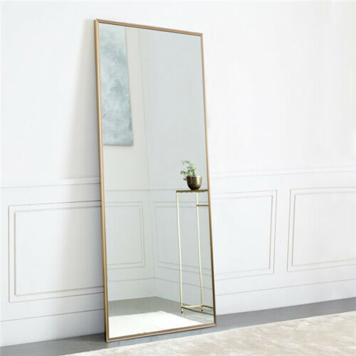 Gold Mirrors Large Full Length Floor Mirror Leaning Living B