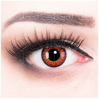 Farbige Halloween Kontaktlinsen rote Vampire Crazy braun rot - Orange Kontaktlinsen