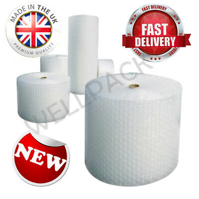 Small Bubbles 100m x 750mm x 2 Heavy Duty Clear Best Quality Bubbles Wrap Roll