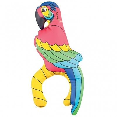 Inflatable Pirates Parrot On Shoulder - Fancy Dress - 28 cm High - Pirate Party - Inflatable Parrot