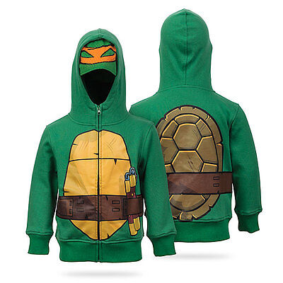 Teenage Mutant Ninja Turtles Hoodie Costume Kids Halloween Fancy Dress (Ninja Turtle Kostüme Hoodie)