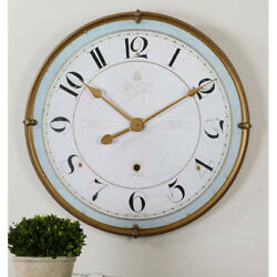 French Country Blue & Ivory Wall Clock Large 32""