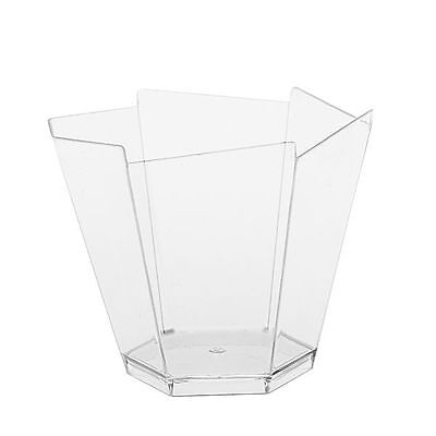 20 Small Plastic Hexagon Cups........... high quality clear cube dessert holders