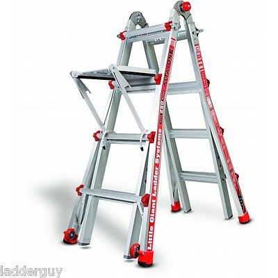 17 Little Giant Ladder 250 lb with Work Platform - New